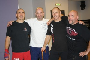 Al and Mick with their Instructors Terry Barnett and Rick Faye
